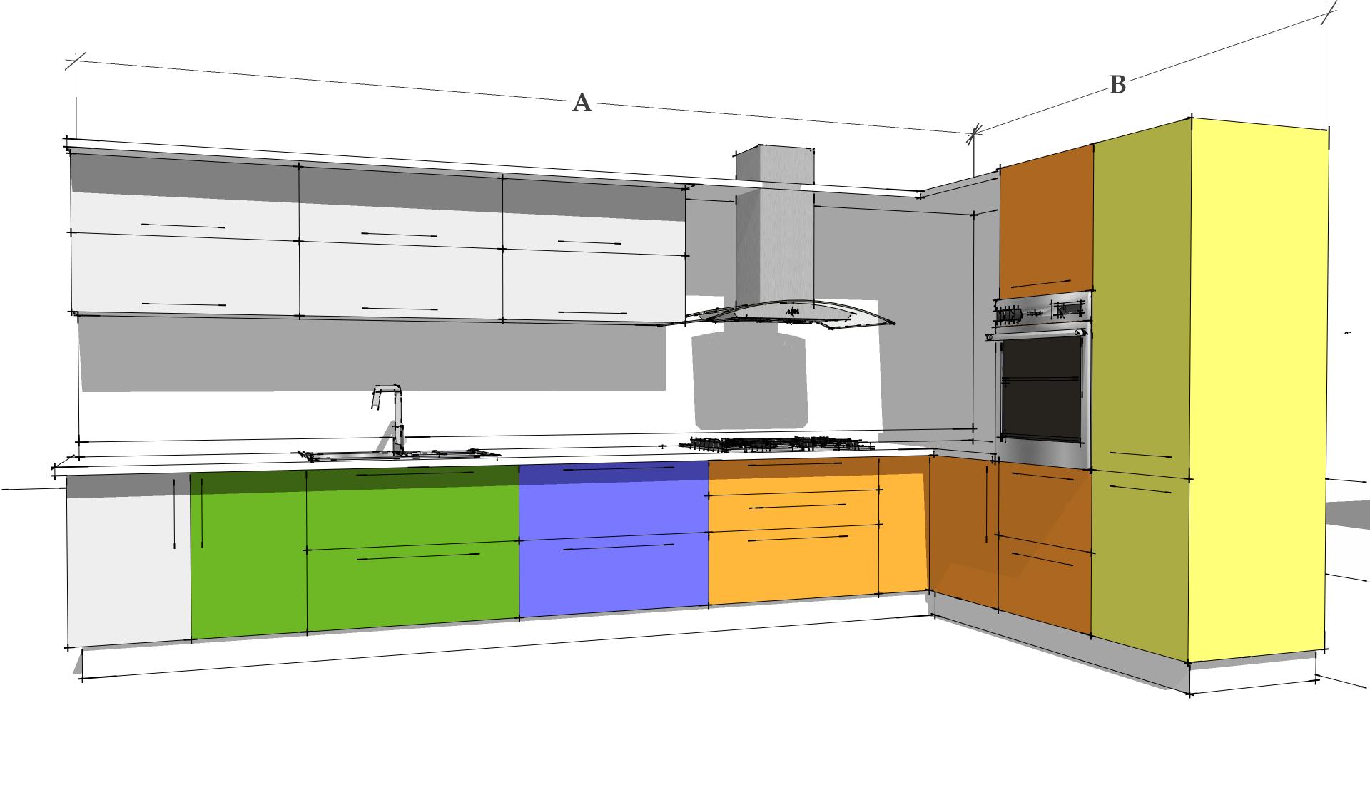 Centro de dise o dolinsky for Muebles para cocina en l