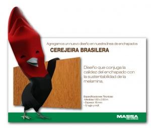 Cerejeira Brasilera. Nuevo diseño de enchapados melamínicos