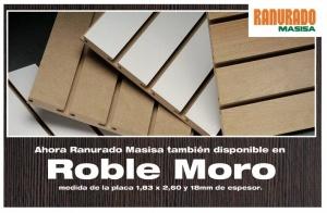 Nuevo Ranurado MASISA en color Roble Moro