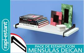 Pack de estantes con mensulas DEICAN