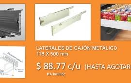 LATERALES DE CAJÓN METÁLICO